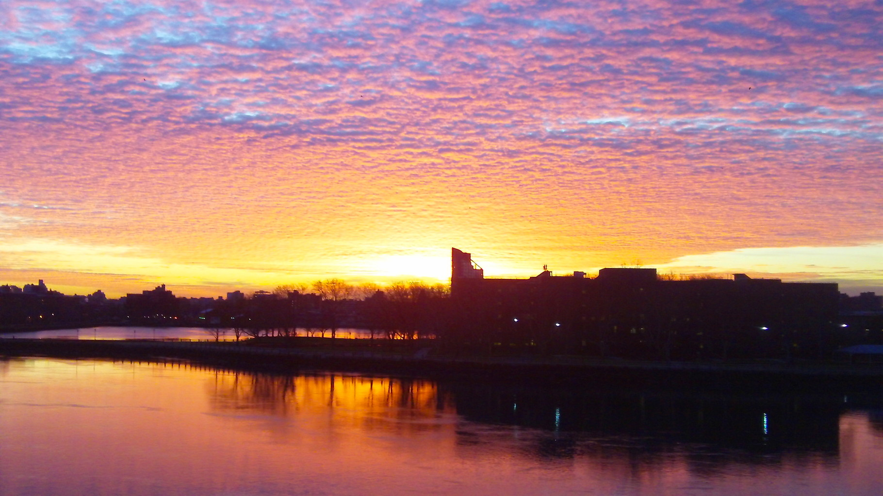 December 30, 2014 Sunrise above the East River, NYC