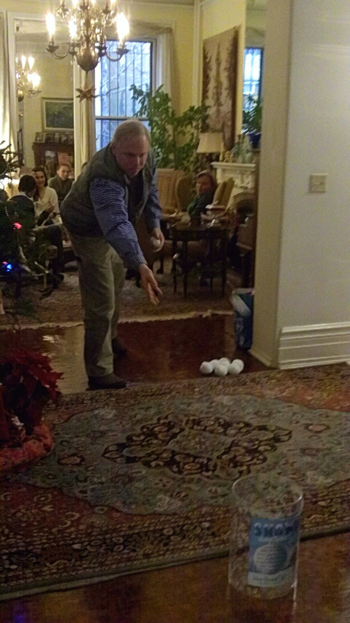 Stuart Jr. tries snowball toss