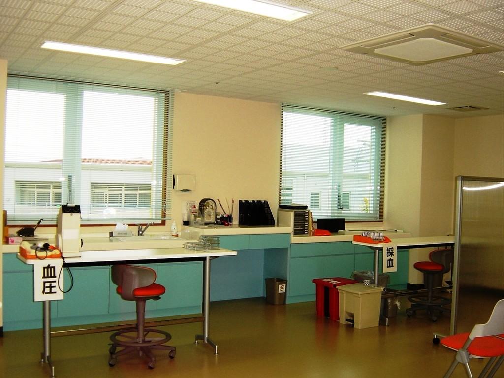 測定室(採血・血圧・身長・体重ほか)