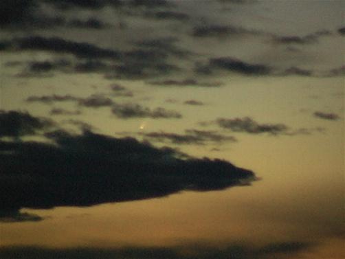 Komet McNought über Pfaffenhausen (Foto: Reschke)