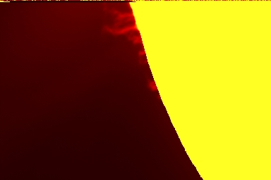 Sonnenprotuberanz 27.03.1998 (Foto: Reschke)
