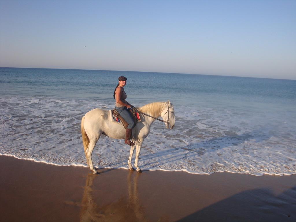 Strandritt an der Costa de la Luz mit Moni