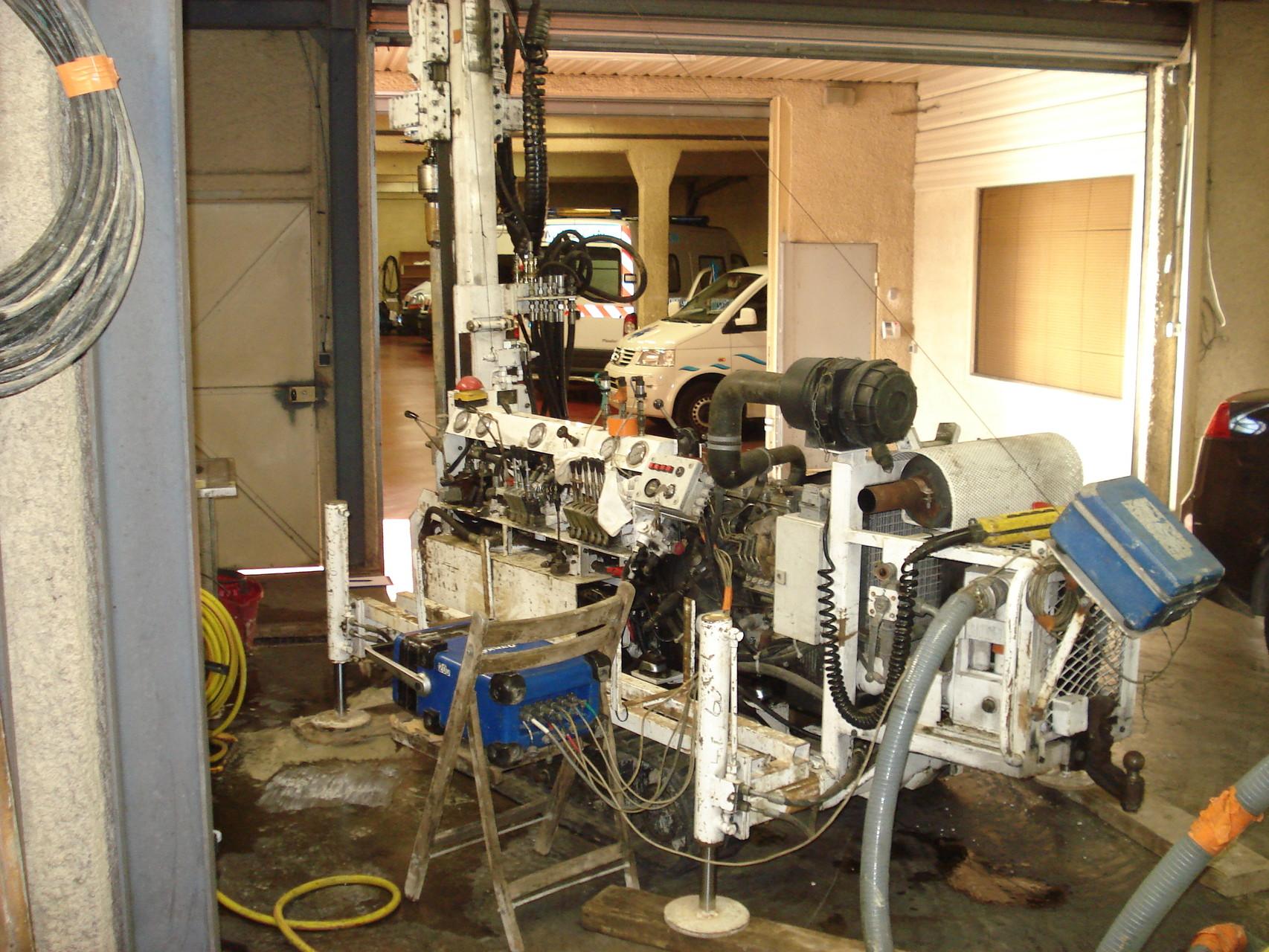 Sondage 30 ml de profondeur dans parking