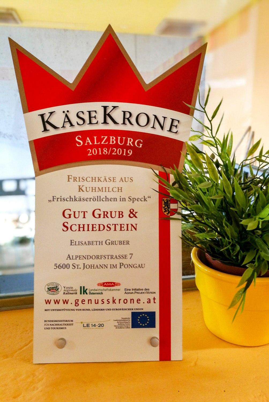 Käse-Krone für Gut Grub & Schiedstein