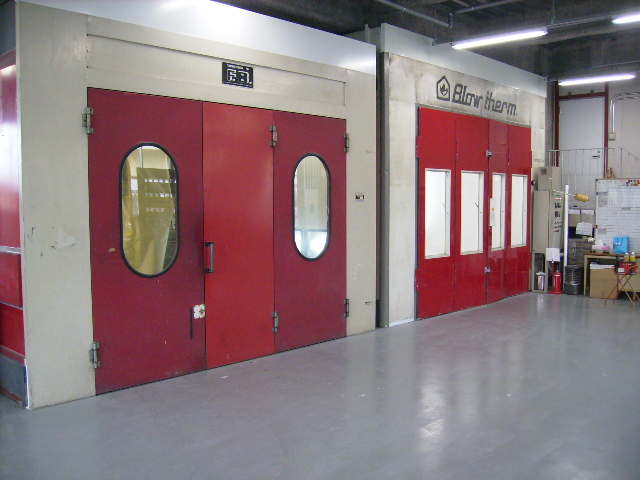 2階塗装工場 塗装ブース2機完備