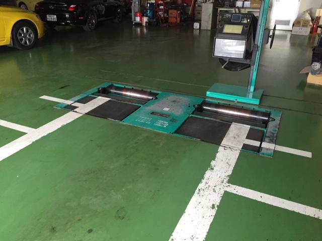 1階整備工場 車検検査ライン
