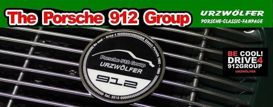 Porsche 912 Group Urzwölfer Grill Badge