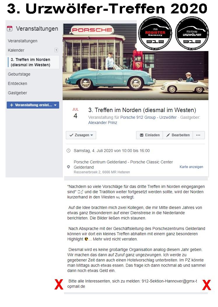 Porsche 912 Urzwölfer Treffen 2020