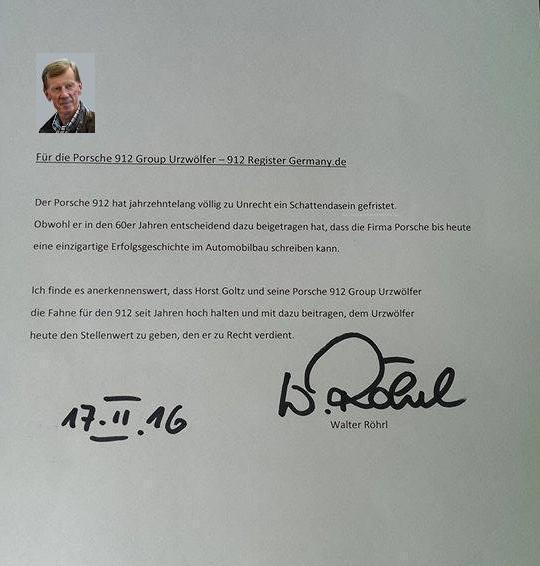 Post von Walter Röhrl