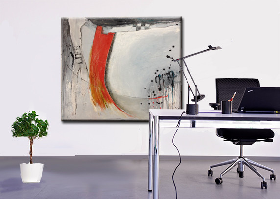 80 x 80 cm abstrakt auf Leinwand - Formel 1 - Pigmente mit Leinölfirnis