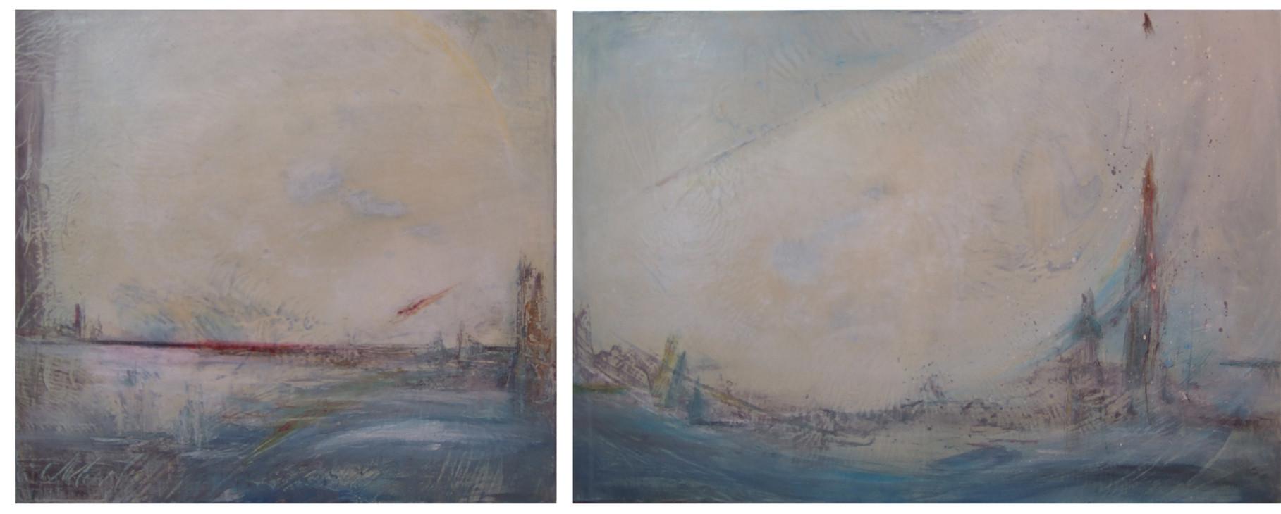 Skyline - zwei Leinwände - VERKAUFT