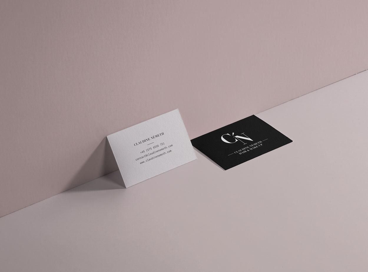 Claudine Németh - Hair & Makeup Artist - Visitenkarten