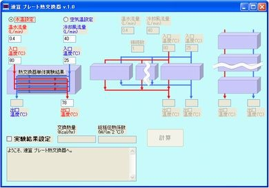 プレート式 熱交換器 計算ソフト