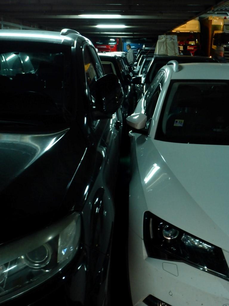 So voll?! Respekt fürs einparken!