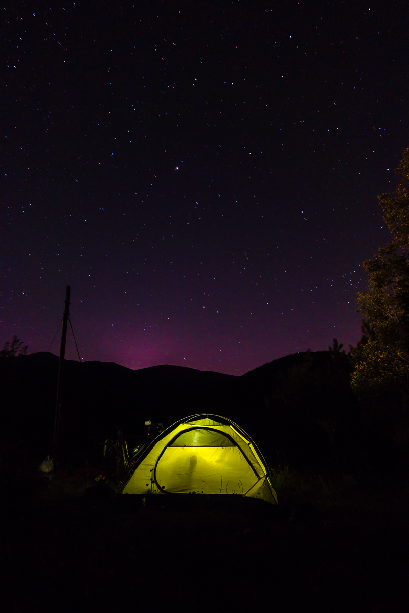Berge, Sternenhimmel und unser neues Robens-Zelt: Ein Traum!