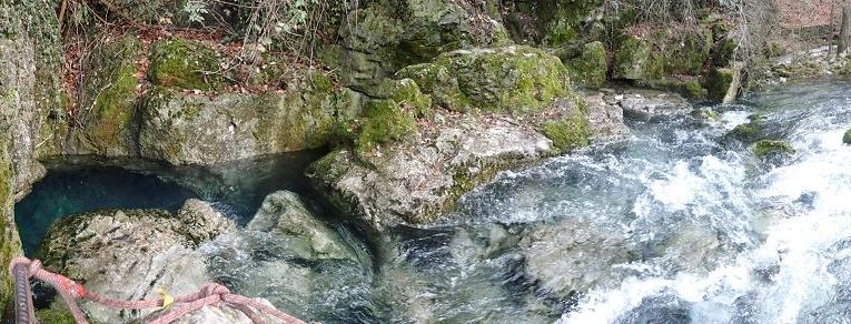 Die vierte Höhle, die Fontanazzi war leider nach dem vielen Regen nicht betauchbar - am Vorabend war das Flussbett noch komplett trocken :(