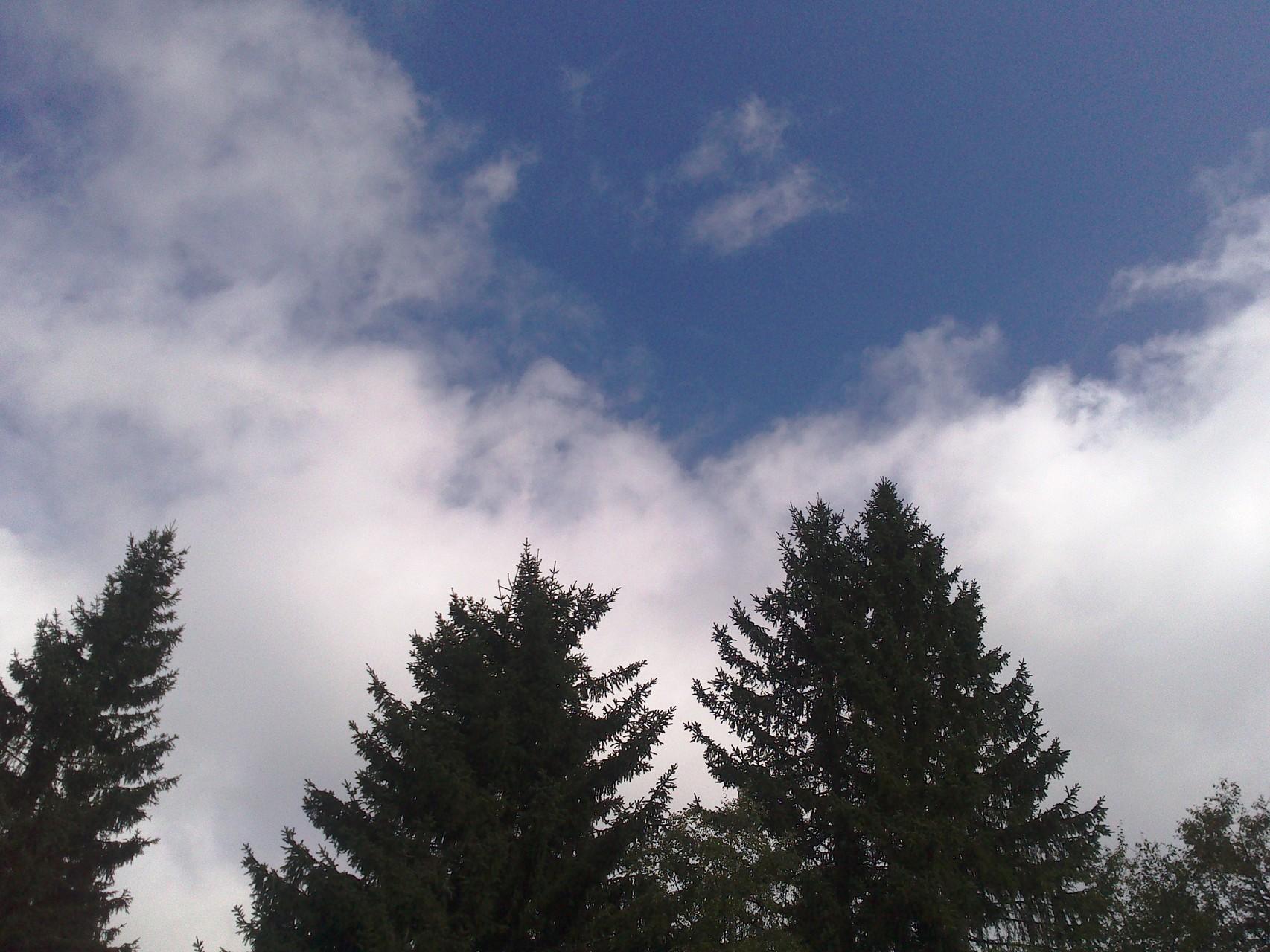 Himmel über WELLNESSLIEGE am Fichtelsee