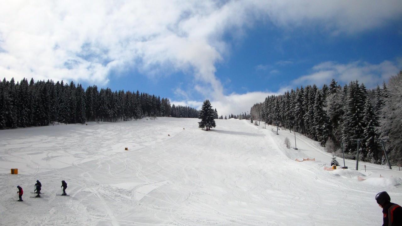 Der Klausenhang ist die breiteste Skipiste in Nordbayern