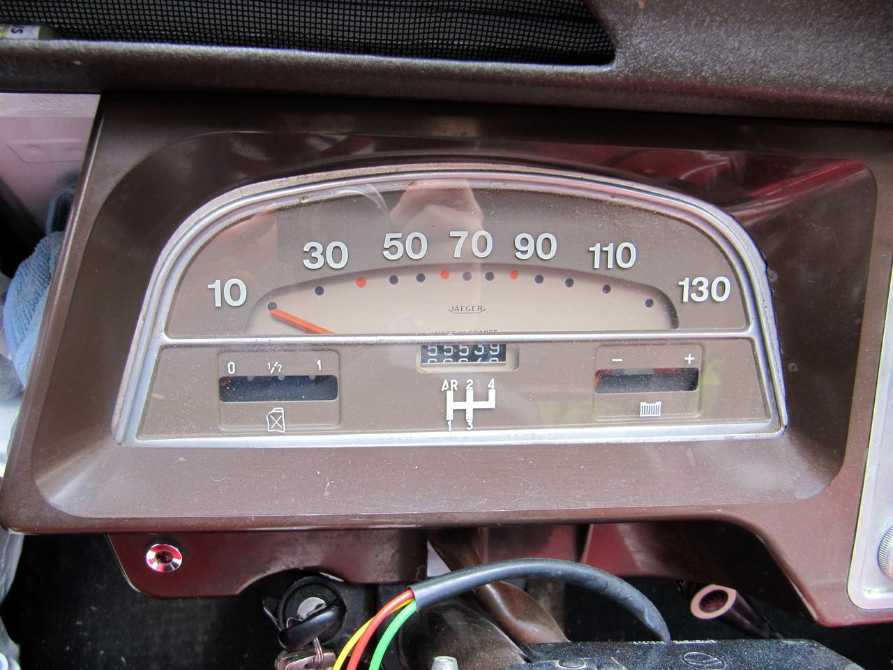 La boîte à vitesse est des années 50