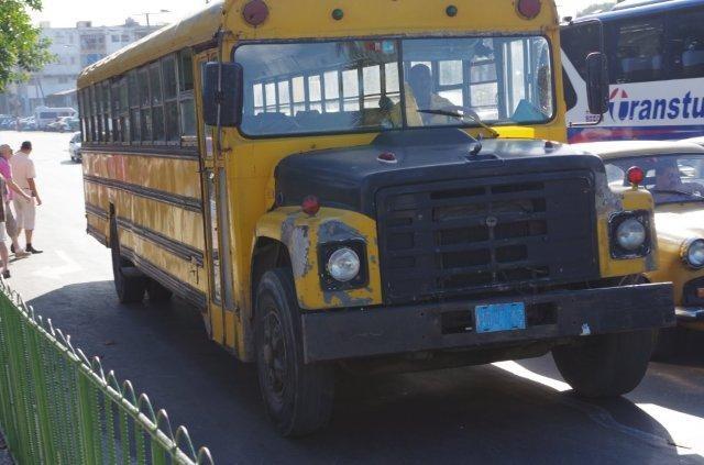 un bus scolaire américain