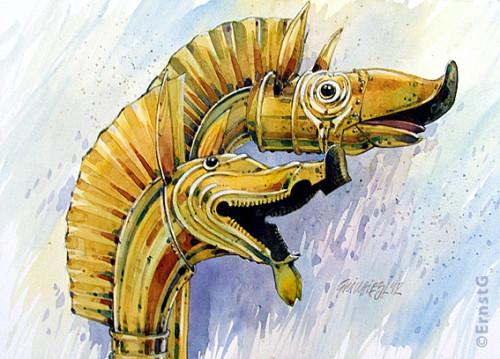 Carnyx Deskford Gallisch Trompete Kelten