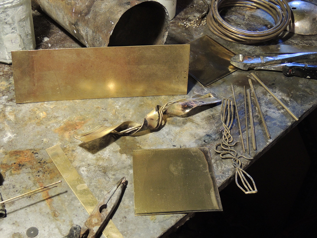 plaque laiton bijoux