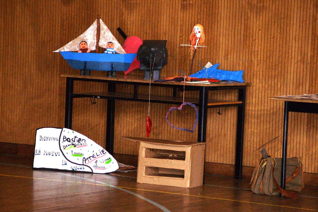 Eté Jeunes 2009, exposition de différentes rélisations des jeunes