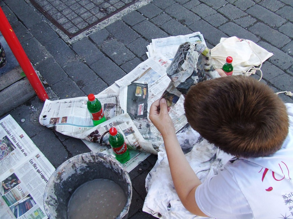 Eté Jeunes 2009, atelier culturel: sculpture