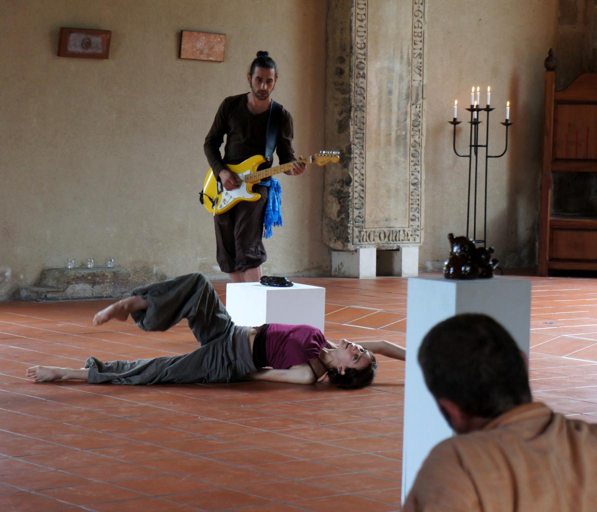 à la guitare Bruno Sporer, super musicien!