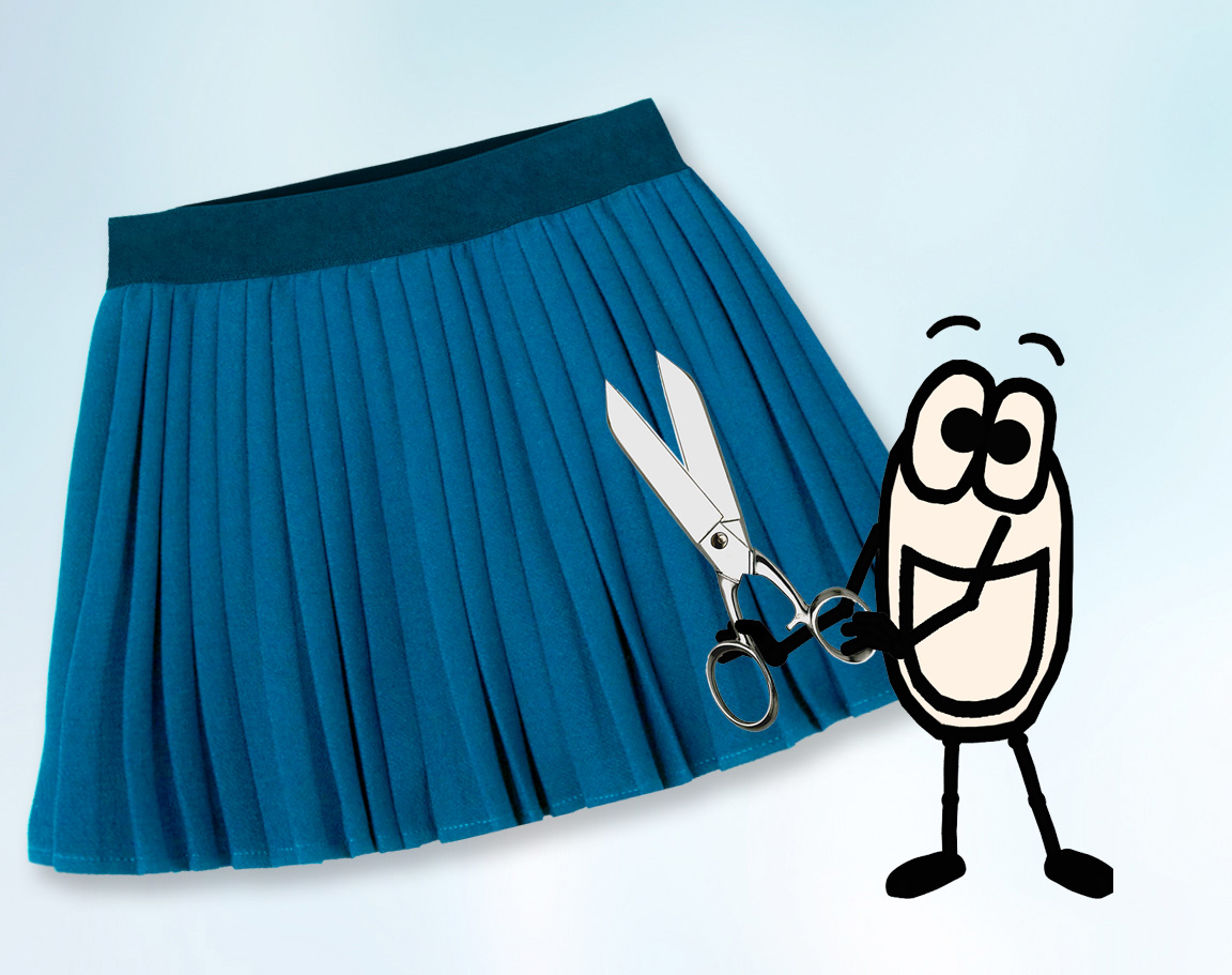 Comment faire une jupe plissée - Petite fille