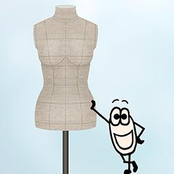 Mannequin de couture sur mesure  - La solution !