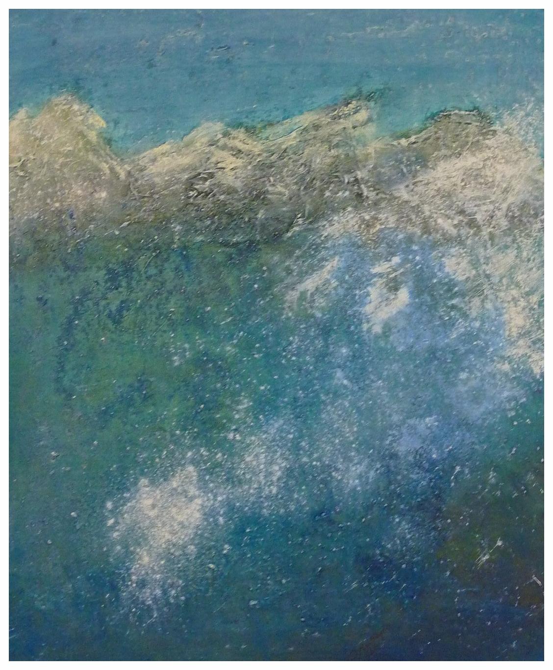 Gebirge türkis , 50 x 60 / 2014