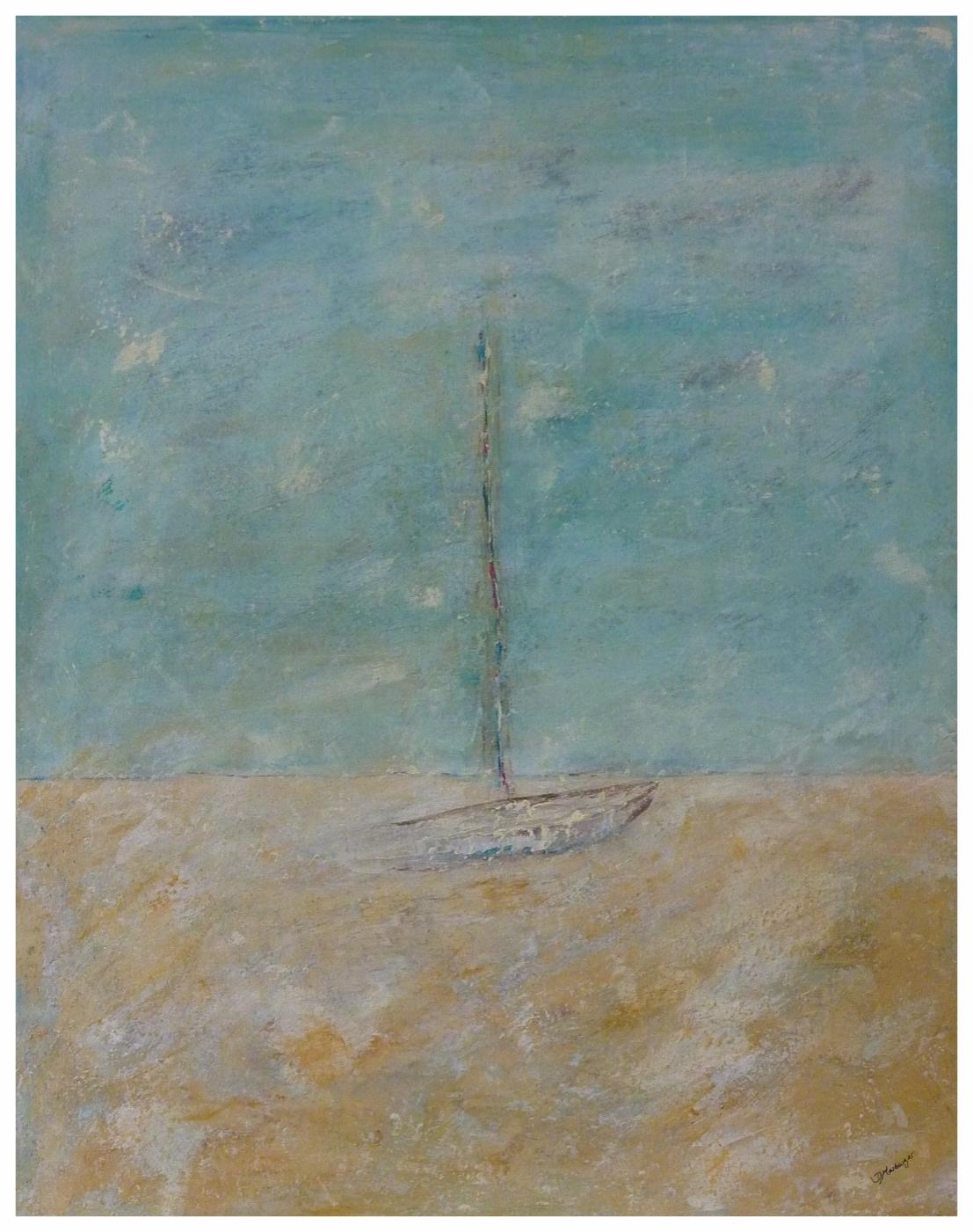 Gestrandet , 80 x 100 / 2010