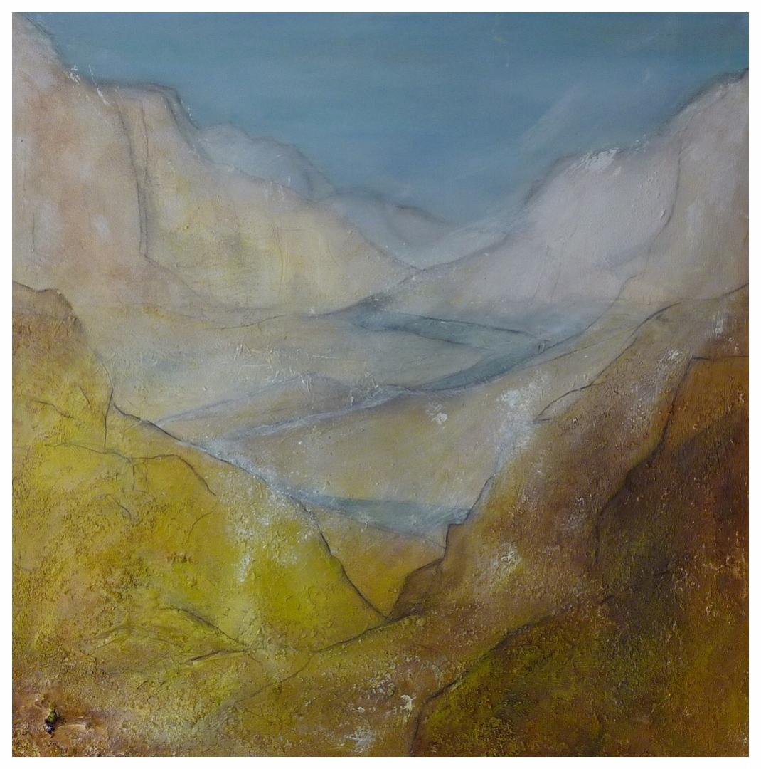 Gebirge III , 90 x 90 / 2013