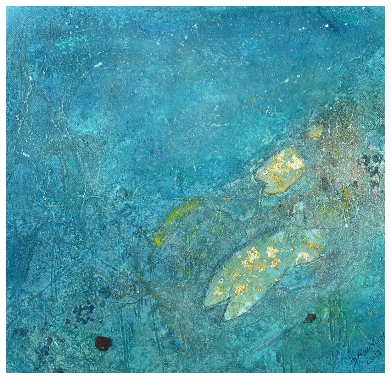 Fische II , 30 x 30