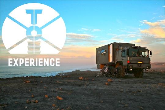 "best moments in expedition vehicle ""tesomobil"" by toe-experience.com / dirt road Wohnmobil/ Expeditions-Truck / Übernachten direkt am Strand - mitten im Sand und direkt am Meer / Weltreisemobil !"