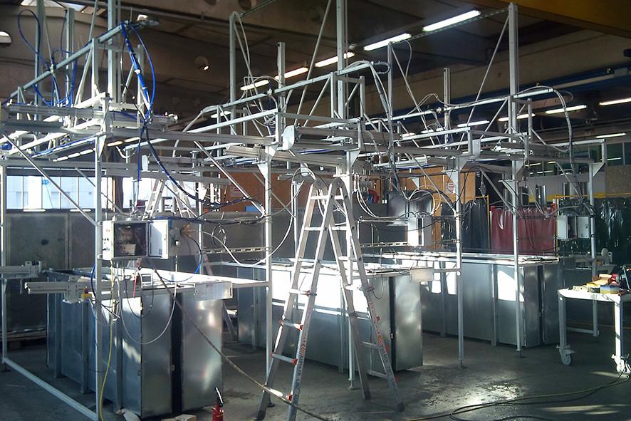 Konstruktion einer automatischen Patinieranlage