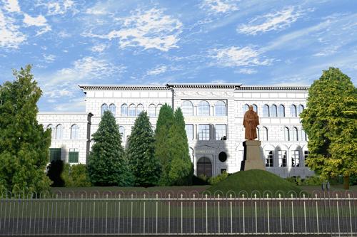 das ehemalige Stolberger Goethe-Gymnasium um 1915