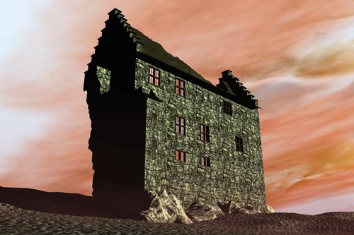 Stolberger Burg als Ruine - 2