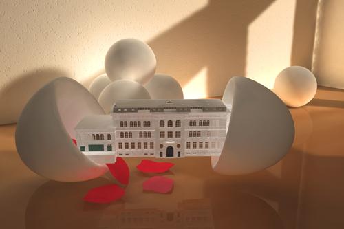 das ehemalige Stolberger Goethe-Gymnasium schlüpft aus dem Ei