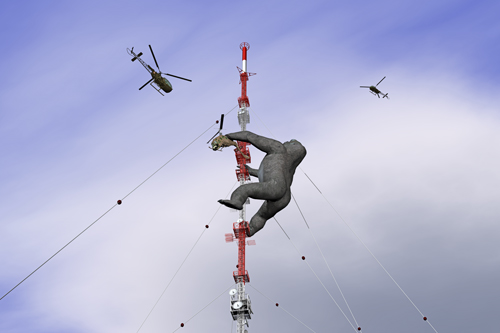 King Kong auf dem Donnerberger Sender