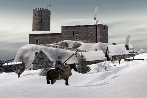 Stolberger Burg im Jahre 1364