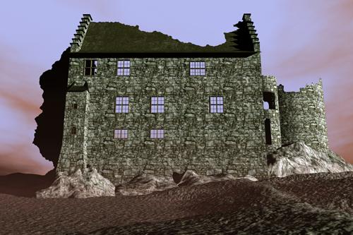 Stolberger Burg als Ruine - 1