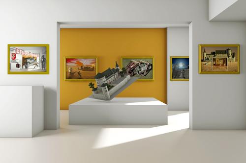 Stolberger Burg im virtuellen Ausstellungsraum