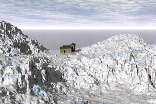 Stolberger Burg in einer Eislandschaft