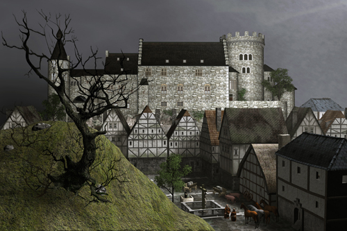 Mittelalter-Burg