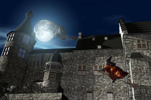 Stolberger Burg mit Hexen
