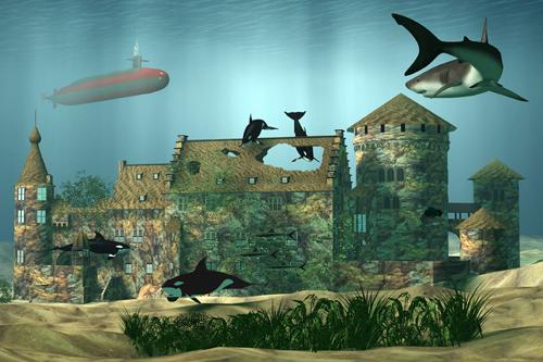 Unterwasser-Burg