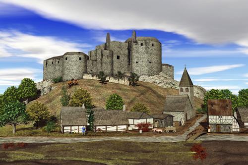Stolberger Burg im Jahre 1544