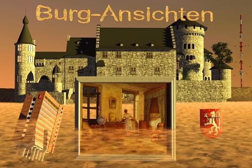 Burg-Ansichten ( mit Stolberger Rathaus und Donnerberger Sender )